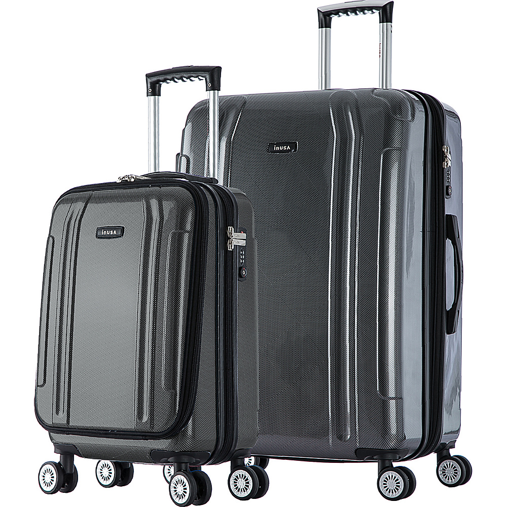 inUSA SouthWorld 19 23 2 Piece Hardside Spinner Luggage Set Dark Gray Carbon inUSA Luggage Sets