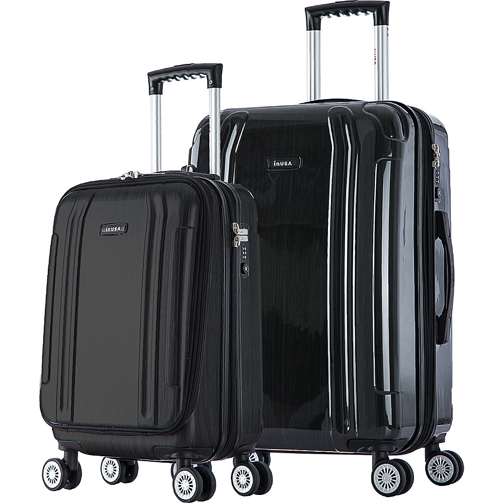inUSA SouthWorld 19 23 2 Piece Hardside Spinner Luggage Set Dark Gray Brush inUSA Luggage Sets