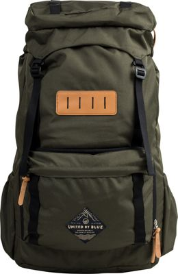 United by Blue 45L Range Daypack Olive - United by Blue Day Hiking Backpacks
