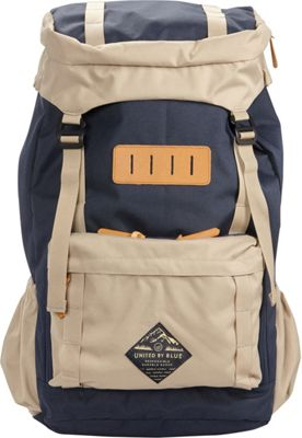 United by Blue 45L Range Daypack Navy/Tan - United by Blue Day Hiking Backpacks