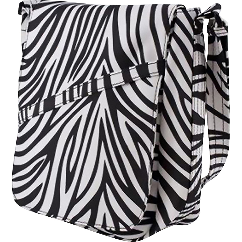 BeSafe by DayMakers Anti Theft Large U Shape with Flap Shoulder Bag Zebra BeSafe by DayMakers Fabric Handbags
