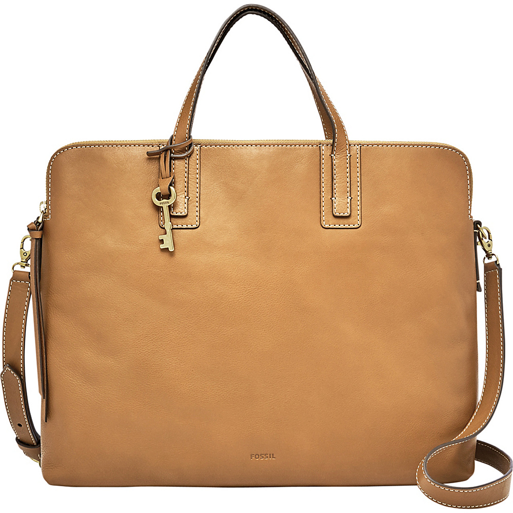 Fossil Emma Laptop Bag Tan - Fossil Leather Handbags - Handbags, Leather Handbags