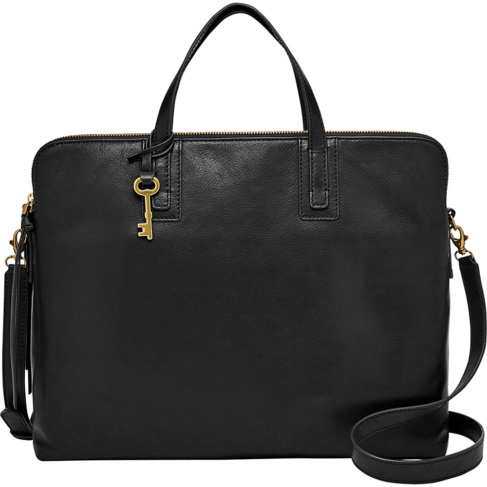 Fossil Emma Laptop Bag Black - Fossil Leather Handbags - Handbags, Leather Handbags