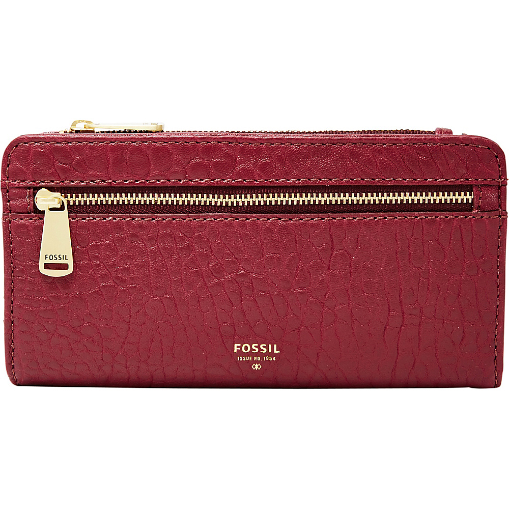 Fossil Preston RFID Bifold Clutch Wine - Fossil Womens Wallets - Women's SLG, Women's Wallets