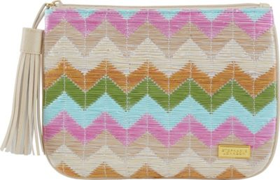 Stephanie Johnson Amalfi Large Flat Cosmetic Pouch Pink - Stephanie Johnson Toiletry Kits