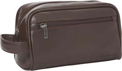 Ben Sherman Luggage Mayfair Collection Single Compartment Top Zip Travel Kit Brown - Ben Sherman Luggage Toiletry Kits