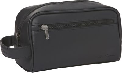 Ben Sherman Luggage Mayfair Collection Single Compartment Top Zip Travel Kit Black - Ben Sherman Luggage Toiletry Kits