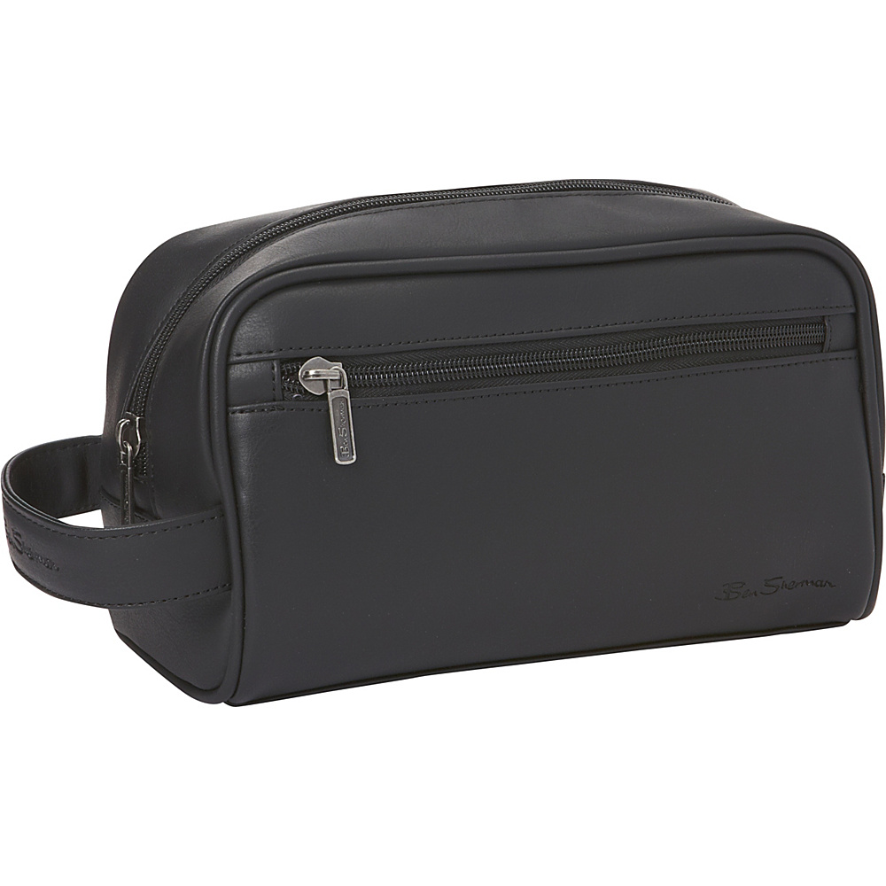 Ben Sherman Luggage Mayfair Collection Single Compartment Top Zip Travel Kit Black Ben Sherman Luggage Toiletry Kits