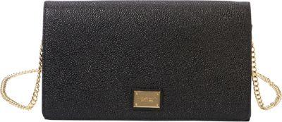 Tignanello Pebble Leather Clutch with Removable Chain Strap Black - Tignanello Leather Handbags