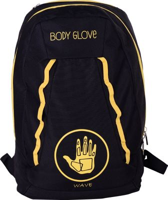 BODY GLOVE Long Lat Wave 19 inch Backpack Black/Yellow - BODY GLOVE Long Lat Everyday Backpacks