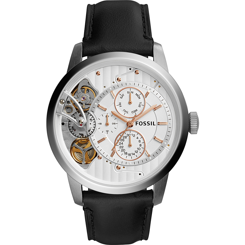 Fossil Townsman Twist Multifunction Leather Watch Black - Fossil Watches - Fashion Accessories, Watches