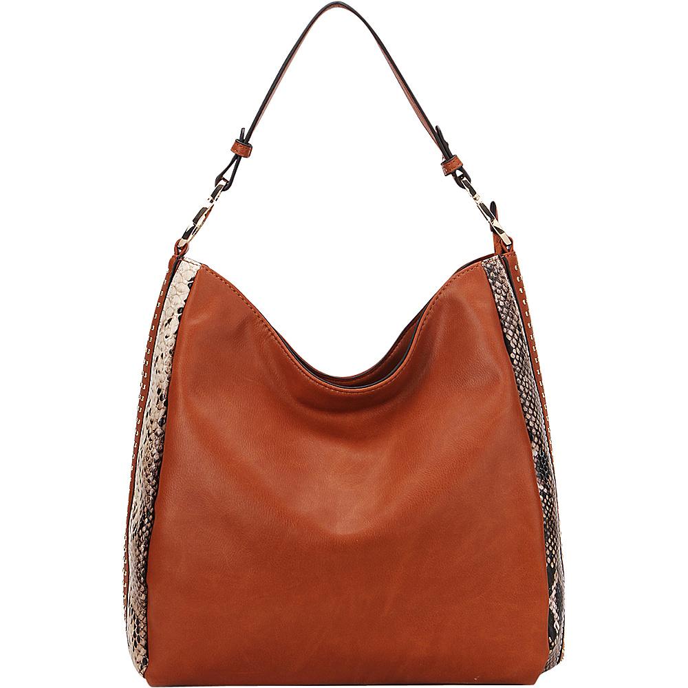 MKF Collection by Mia K. Farrow Kacy Shoulder Tote Brown - MKF Collection by Mia K. Farrow Manmade Handbags - Handbags, Manmade Handbags