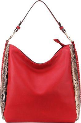 MKF Collection by Mia K. Farrow Kacy Shoulder Tote Red - MKF Collection by Mia K. Farrow Manmade Handbags