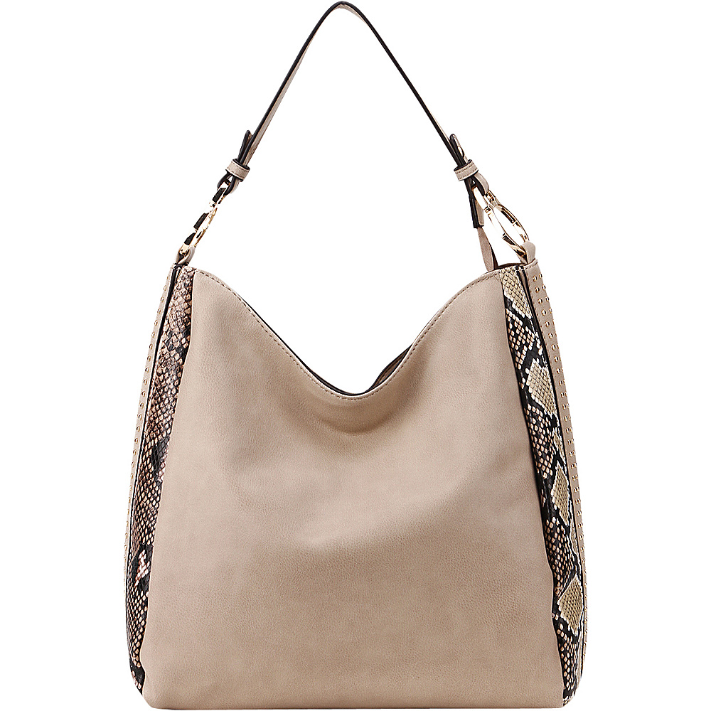 MKF Collection Kacy Shoulder Tote Taupe - MKF Collection Manmade Handbags - Handbags, Manmade Handbags