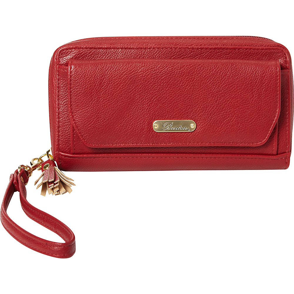 Buxton Tech Wallet with Battery Bank Red - Buxton Womens Wallets - Women's SLG, Women's Wallets