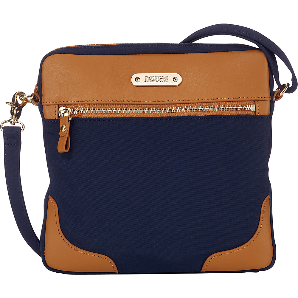 Davey s Easy Crossbody Navy Davey s Fabric Handbags