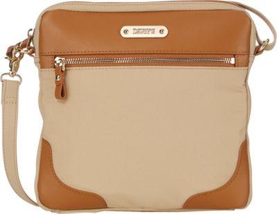 Davey's Easy Crossbody Khaki - Davey's Fabric Handbags
