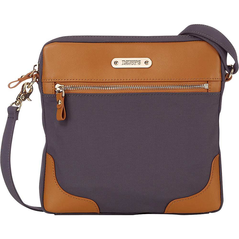 Davey s Easy Crossbody Grey Davey s Fabric Handbags