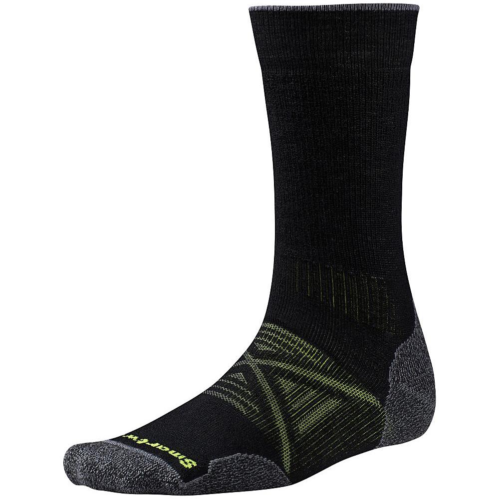 Smartwool PhD Outdoor Medium Crew Black Medium Smartwool Men s Legwear Socks