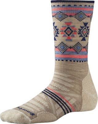 Smartwool Womens PhD Outdoor Light Pattern Crew S - Oatmeal - Large - Smartwool Women's Legwear/Socks