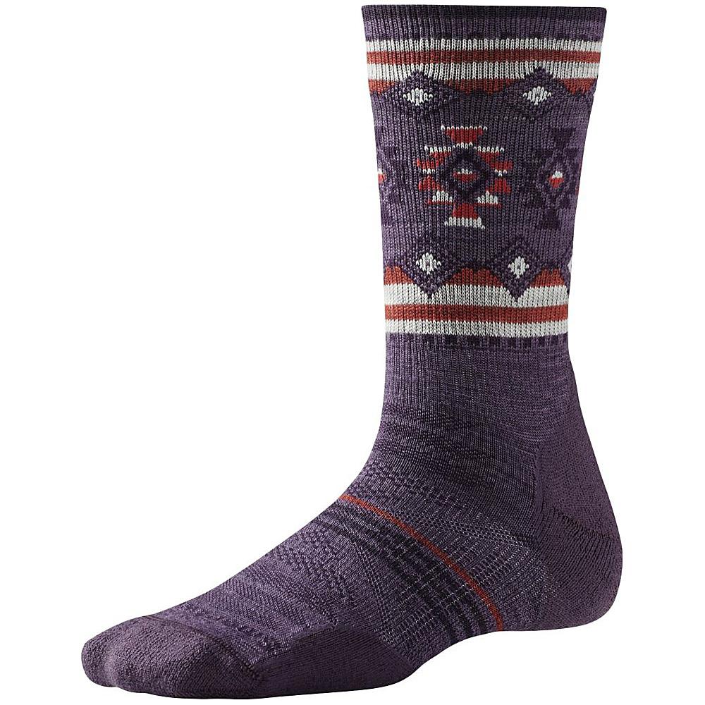 Smartwool Womens PhD Outdoor Light Pattern Crew Desert Purple Small Smartwool Women s Legwear Socks