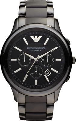 Emporio Armani Ceramica Watch Black - Emporio Armani Watches
