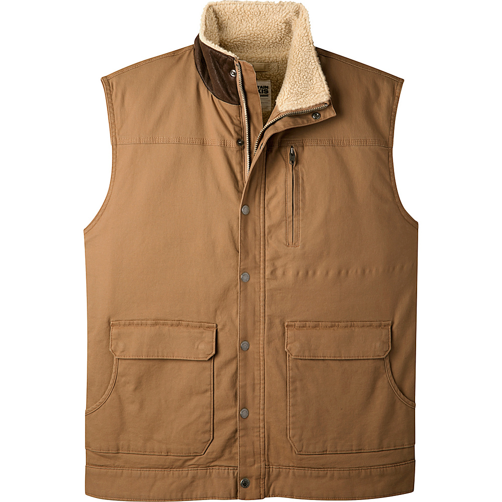 Mountain Khakis Ranch Shearling Vest S - Tobacco - Mountain Khakis Mens Apparel - Apparel & Footwear, Men's Apparel