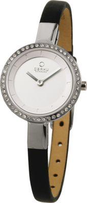 Obaku Watches Womens Leather Watch Black/Silver - Obaku Watches Watches