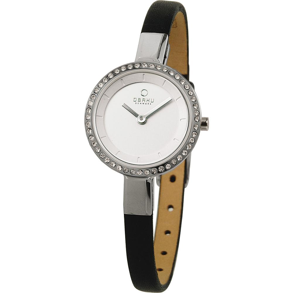 Obaku Watches Womens Leather Watch Black Silver Obaku Watches Watches