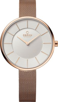 Obaku Watches Womens Stainless Steel Mesh Watch Rose Gold/Silver - Obaku Watches Watches