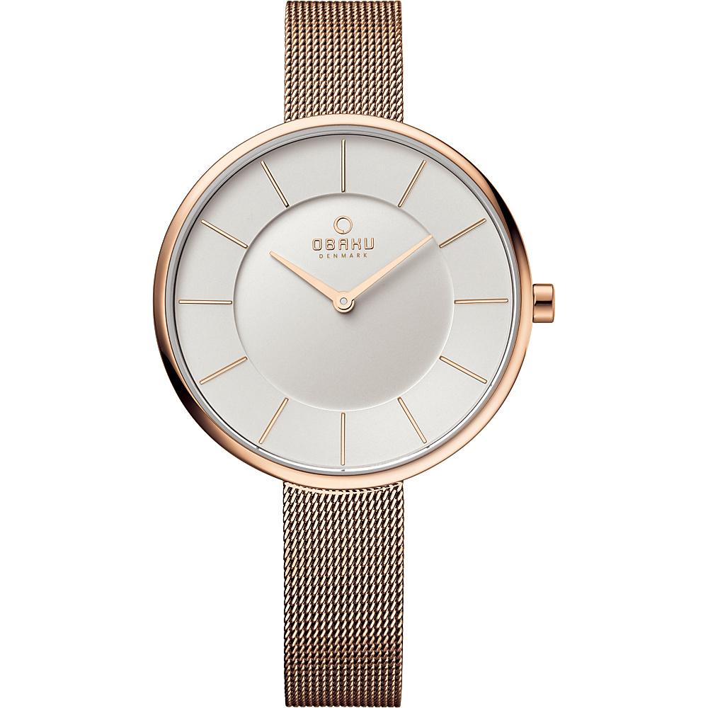 Obaku Watches Womens Stainless Steel Mesh Watch Rose Gold Silver Obaku Watches Watches