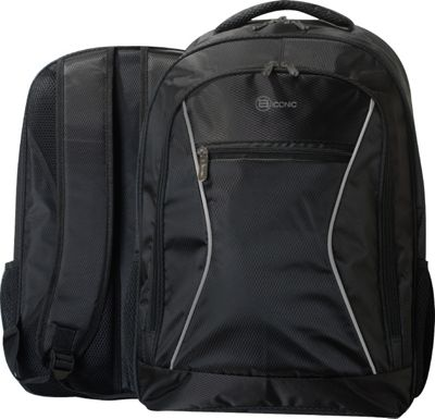 B iconic Terra Laptop Backpack Black - B iconic Business & Laptop Backpacks