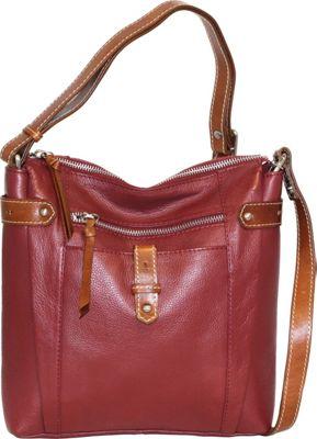 Nino Bossi Jasmine Bloom Crossbody Cabernet - Nino Bossi Leather Handbags