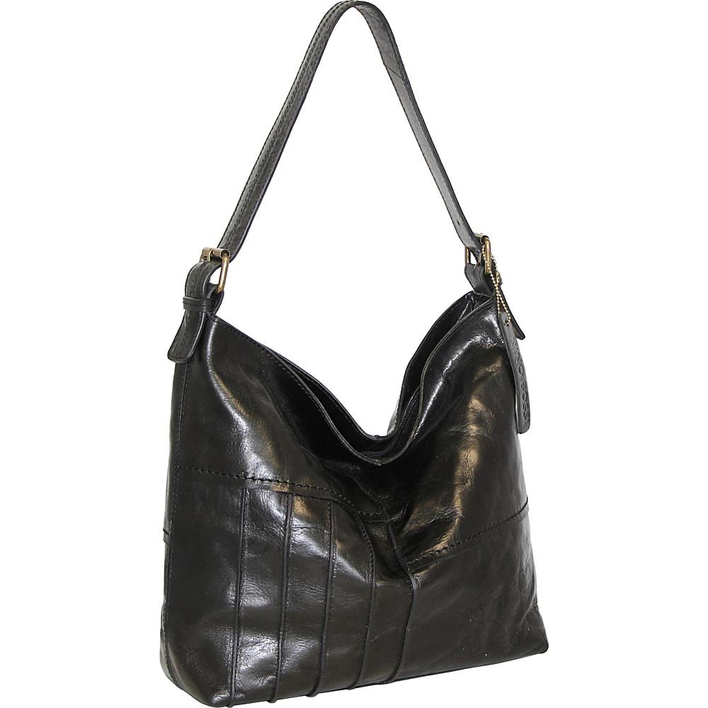 Nino Bossi Lilac Bouquet Shoulder Bag Black - Nino Bossi Leather Handbags - Handbags, Leather Handbags