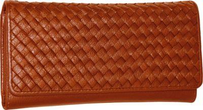 Nino Bossi My Woven Wallet Cognac - Nino Bossi Women's Wallets