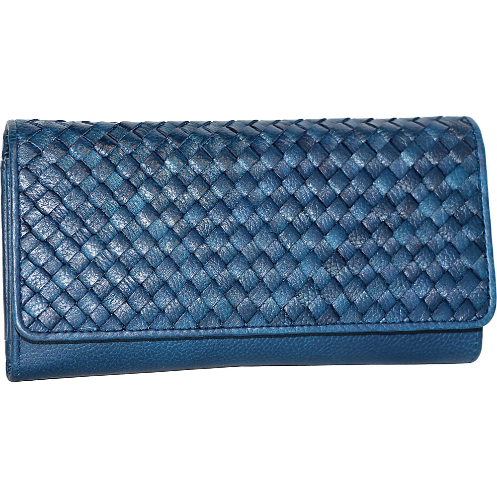 Nino Bossi My Woven Wallet Denim - Nino Bossi Designer Handbags - Handbags, Designer Handbags