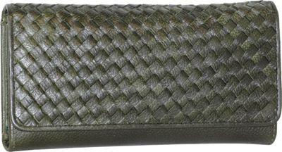 Nino Bossi My Woven Wallet Green - Nino Bossi Designer Handbags