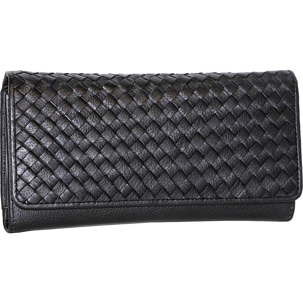 Nino Bossi My Woven Wallet Black - Nino Bossi Designer Handbags - Handbags, Designer Handbags