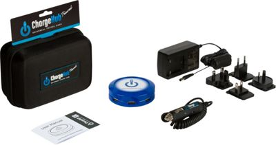 ChargeHub X7 International Travel Pack - 7-Port USB SuperCharger - Round Blue - ChargeHub Portable Batteries & Chargers