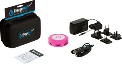 ChargeHub X7 International Travel Pack - 7-Port USB SuperCharger - Round Pink - ChargeHub Portable Batteries & Chargers