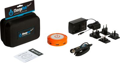 ChargeHub X7 International Travel Pack - 7-Port USB SuperCharger - Round Orange - ChargeHub Portable Batteries & Chargers