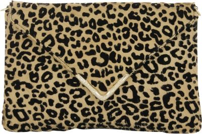 Elaine Turner Bella Clutch Flocked Cheetah Haircalf - Elaine Turner Designer Handbags