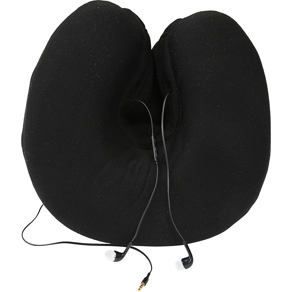 1voice memory foam travel neck pillow with hood and travel. Black Bedroom Furniture Sets. Home Design Ideas