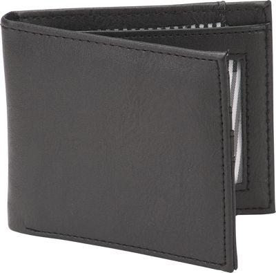 1Voice The Vault RFID Blocking Leather Wallet Textured Black - 1Voice Men's Wallets