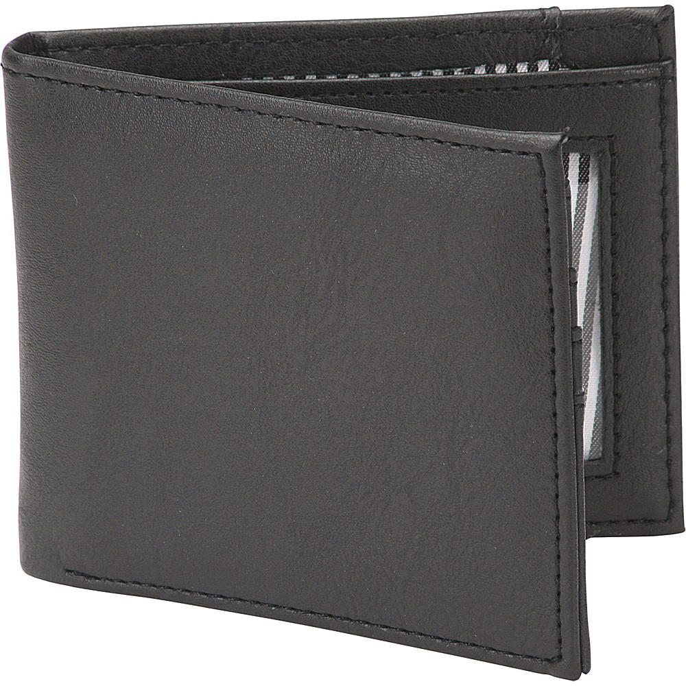 1Voice The Vault RFID Blocking Leather Wallet Textured Black 1Voice Men s Wallets
