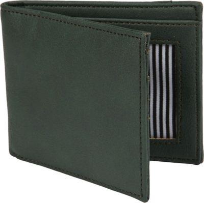1Voice The Vault RFID Blocking Leather Wallet Dark Green - 1Voice Men's Wallets