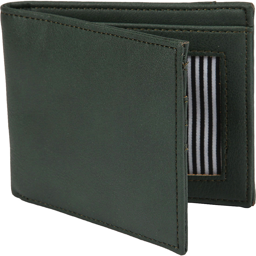 1Voice The Vault RFID Blocking Leather Wallet Dark Green 1Voice Men s Wallets