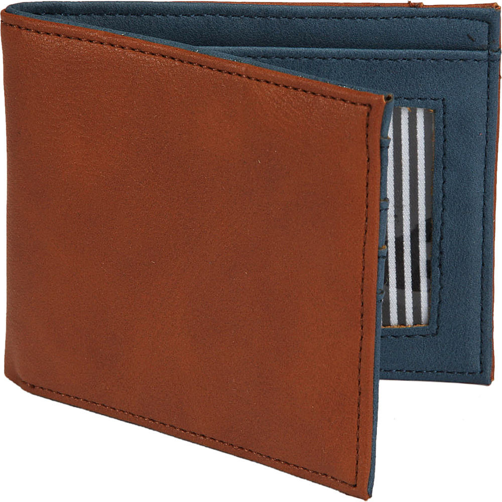 1Voice The Vault RFID Blocking Leather Wallet Light Brown 1Voice Men s Wallets