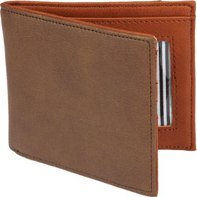 1Voice The Vault RFID Blocking Leather Wallet Dark Brown - 1Voice Men's Wallets