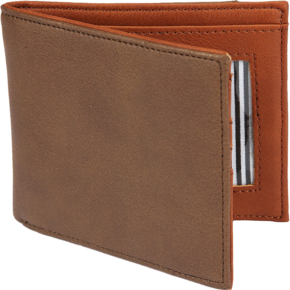 1Voice The Vault RFID Blocking Leather Wallet Dark Brown 1Voice Men s Wallets